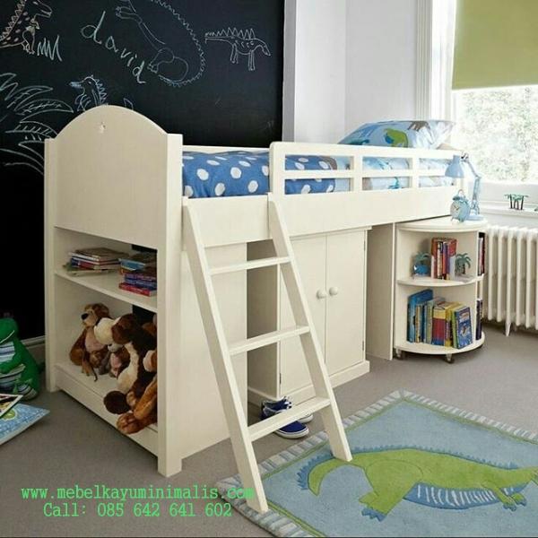 Model Set Ranjang Anak Terbaru Warna Putih MKM-046