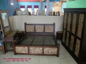 Set Tempat Tidur Koin Ranting Jati