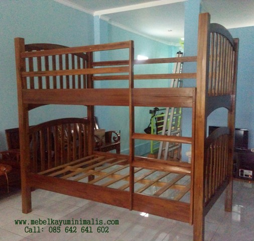 Tempat Tidur Anak Tingkat Jati Minimalis MKM-044