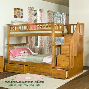 Tempat Tidur Tingkat Kayu Minimalis