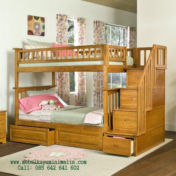 Tempat Tidur Tingkat Kayu Minimalis MKM-043