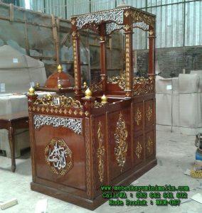 Mimbar Masjid Kaligrafi Jepara Jati