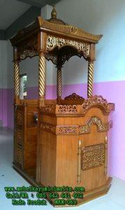 Mimbar Masjid Kayu Jati Berkualitas