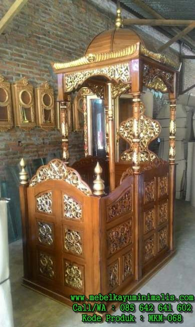 Model Mimbar Masjid Jepara Ukiran MKM-068