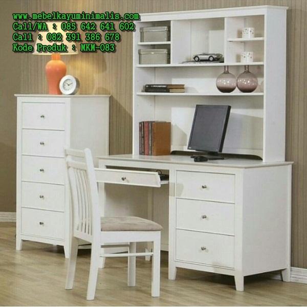 Meja Belajar Minimalis Warna Putih MKM-083
