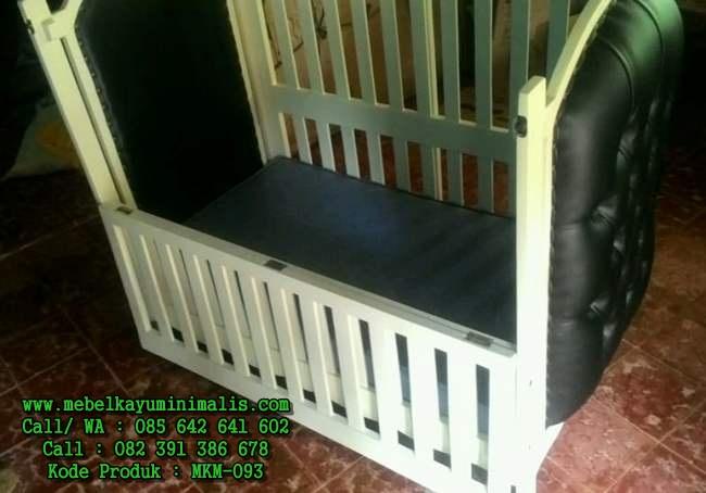 Jual Box Bayi Kayu Mahoni Minimalis MKM-093