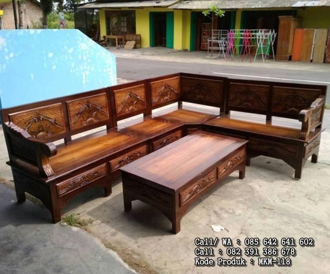 4500 Koleksi Kursi Tamu Sudut Kayu Jati HD Terbaru
