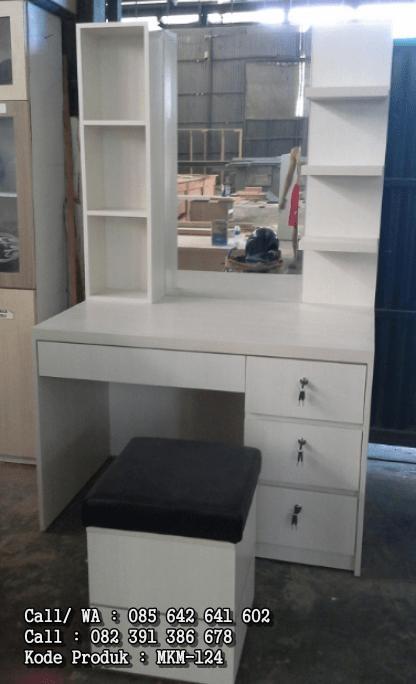 Meja Rias Cermin Minimalis Putih MKM-124