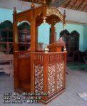 Mimbar Masjid Model Minimalis Ukiran