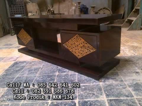 Jual Bufet Pendek Minimalis Jati Ukir Ceplok MKM-134