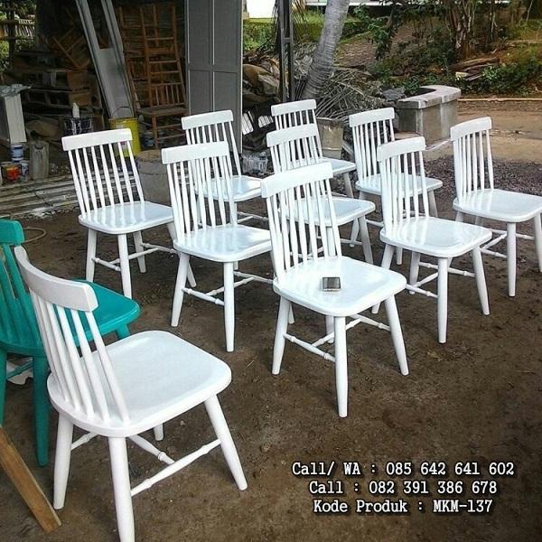 Kursi Cafe Putih Duco Terlaris MKM-137