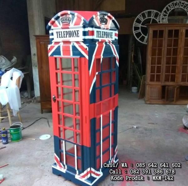 Lemari Pajangan Hias Telepon Inggris MKM-142