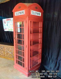 Lemari Pajangan Telephone Antik