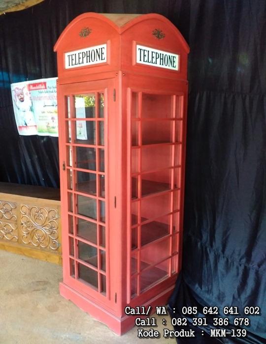 Lemari Pajangan Telephone Antik MKM-139