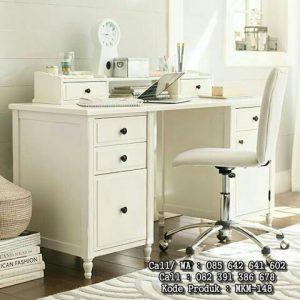 Meja Kerja Pribadi Minimalis Putih