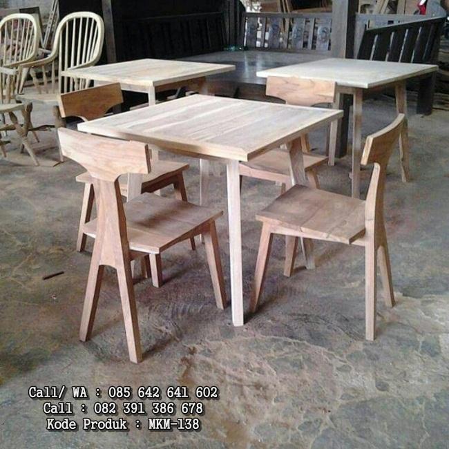 Set Meja Kursi Makan Cafe Restoran MKM-138