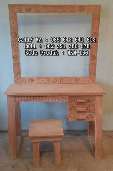 Meja Rias Minimalis Ukir Ceplok Unik MKM-156