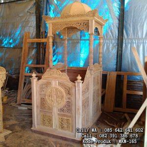 Mimbar Masjid Kubah Kayu Jati Ukir