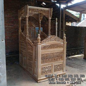 Mimbar Masjid Ukiran Kaligrafi Jepara