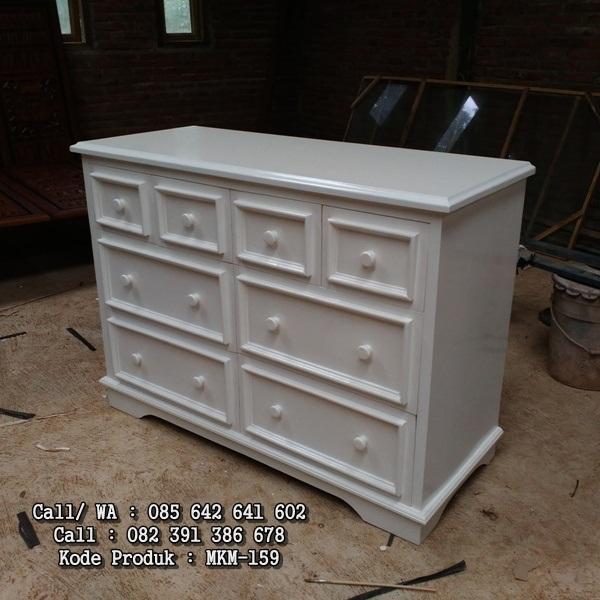Nakas Laci Minimalis Drawer Putih Duco MKM-159