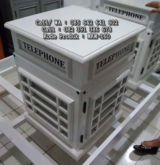 Nakas Telepon Klasik Putih Duco MKM-160