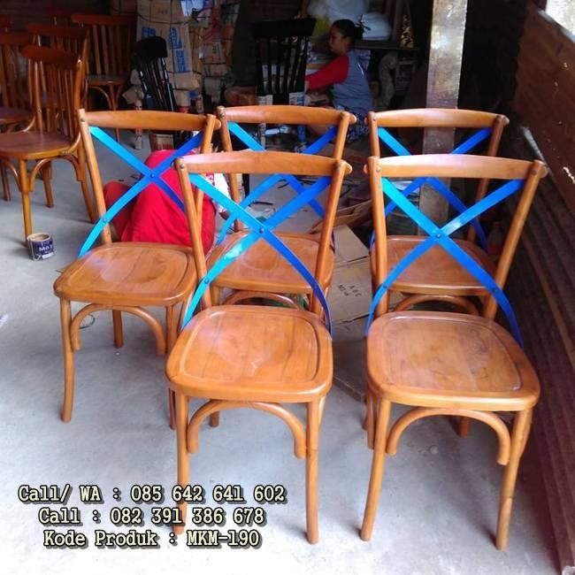 Kursi Cafe Kayu Jati Minimalis Coboy