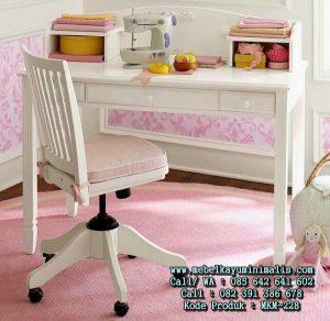 Meja Belajar Warna Putih Duco Minimalis