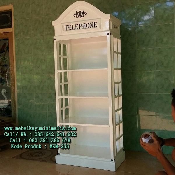 Rak Lemari Pajangan Model Telephone Box