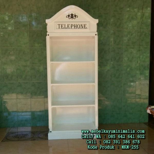 Rak Pajangan Model Telepon Box