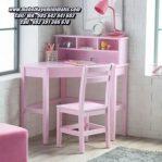 Meja Belajar Sudut Ruangan Pink