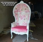 Kursi Sofa Mewah Motif Bunga Shabby