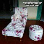 Kursi Sofa Santai Malas Modern Bunga