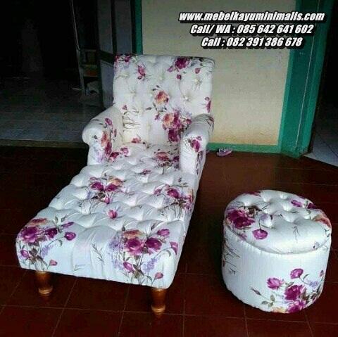 Sofa Santai Malas Modern Bunga