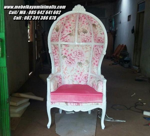 Kursi Sofa Santai Motif Shabby Bunga