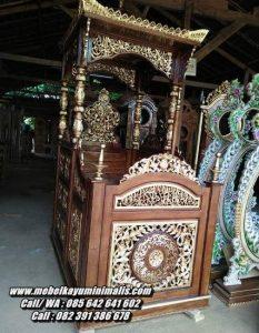 Mimbar Masjid Nabawi Jepara Ukiran Jati