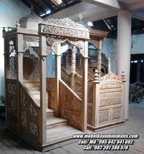 Model Mimbar Masjid Minimalis Jepara