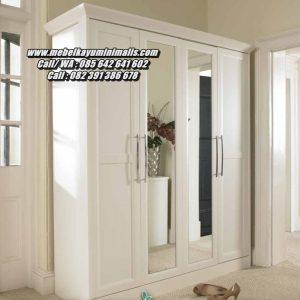 Almari Baju Mewah Minimalis 4 Pintu