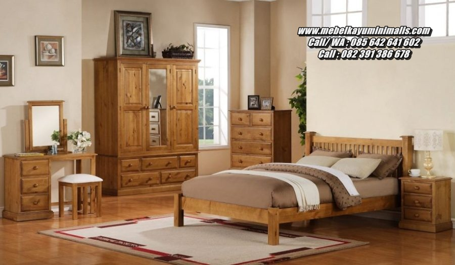 Set Tempat Tidur Minimalis Kayu Jati Jepara
