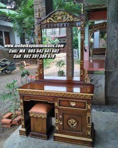Meja Rias Jati Ukiran Jepara Rahwana