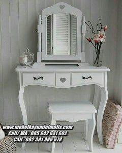 Meja Rias Minimalis Putih Duco