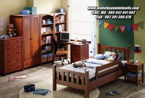 Tempat Tidur Anak Kayu Jati Set Kamar