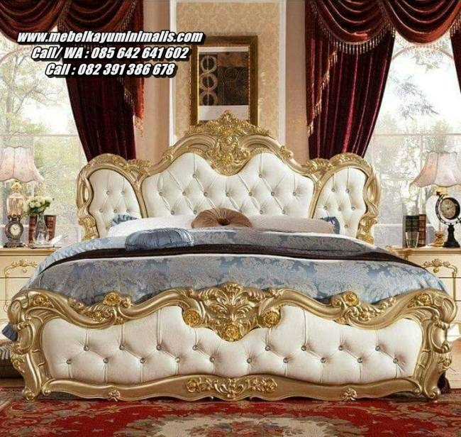 Tempat Tidur Kayu Ukiran Mewah Jepara