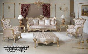 Kursi Ruang Tamu Elegan Mewah Warna Gold
