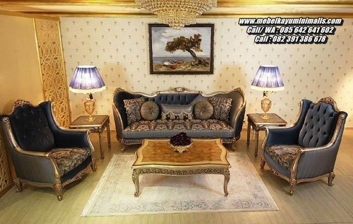 Kursi Ruang Tamu Ukir Kayu Mewah Klasik