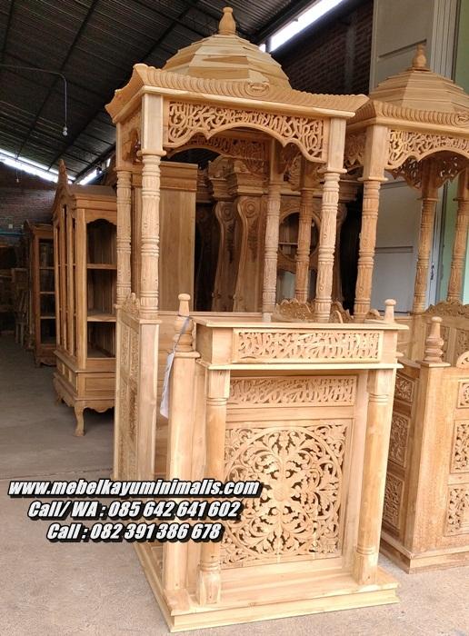 Mimbar Masjid Jepara Pilar Pintu Samping