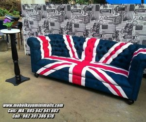 Sofa Santai Minimalis Model Mirip Bendera Inggris