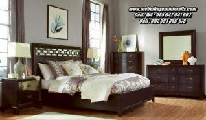 Model Set Tempat Tidur Minimalis Mewah Jati
