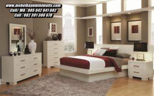 Set Kamar Tempat Tidur Modern Putih Minimalis