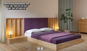 Set Tempat Tidur Kayu Minimalis Modern